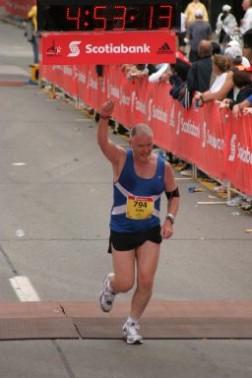 finishing my first marathon 2006