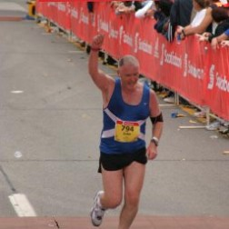 finishing my first marathon 2006